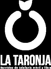 LOGO LA TARONJA TELECOM VERTICAL WHITE WEB